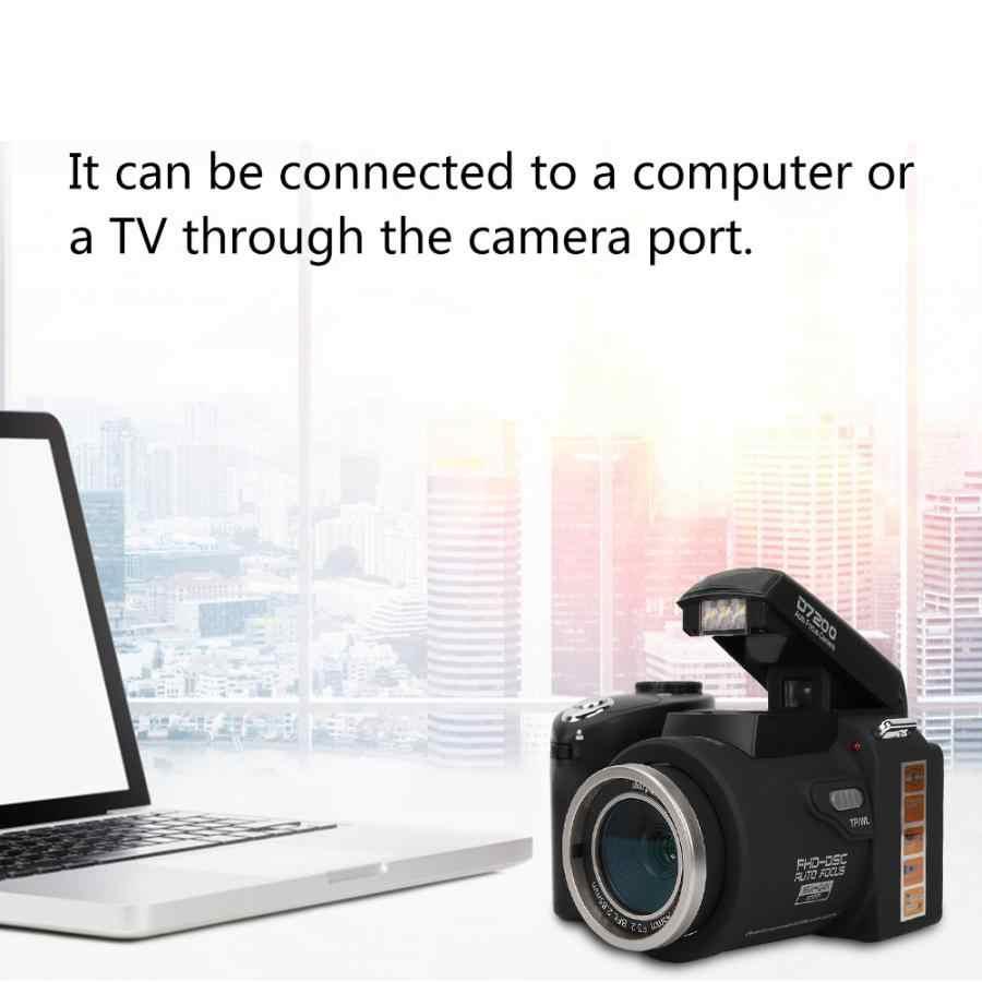 D7200 20MP HD appareil Photo numérique DSLR 0.5X objectif grand Angle + 24X téléobjectif + lumière LED caméscope caméra vidéo numérique