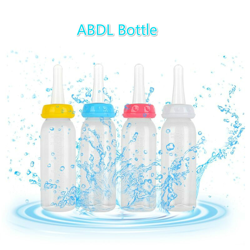 Adult Baby Bottle - 4 Colors ABDL & DDLG Milk Bottles Perfect For Age Play/Little Space Ddlg Bottle Daddy Little Girl