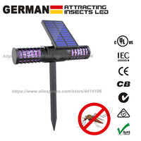 Solar Powered Enhanced Outdoor Flying Insect Killer Hang or Stake in The Ground for Mosquitoes/Moths/Flies