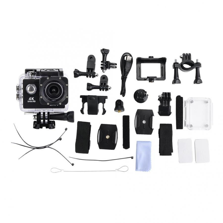 4K HD WiFi Camera 30M Waterproof Housing Two Battery Bike Mount Kit 4K video and 12MP 4K HD WiFi Camera 30M Waterproof Housing Two Battery Bike Mount Kit 4K video and 12MP photos Wide angle lens