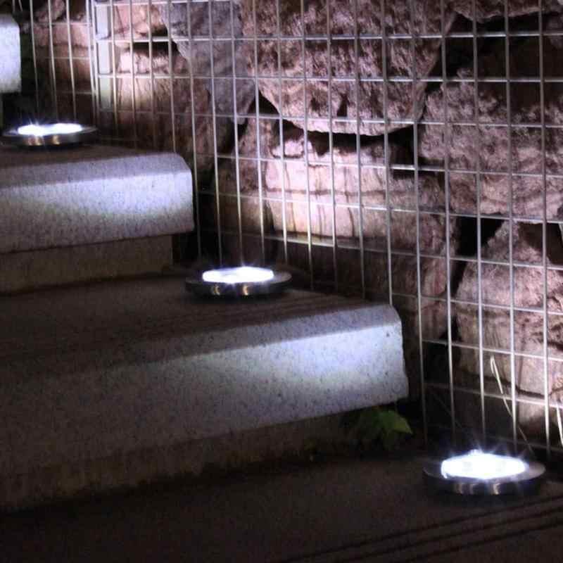 4 Pcs 16LED Tahan Air Tanah Surya Dimakamkan Cahaya Outdoor Lawn Tenaga Surya Dimakamkan Cahaya Tanah Lampu Outdoor Taman Dekorasi Lampu