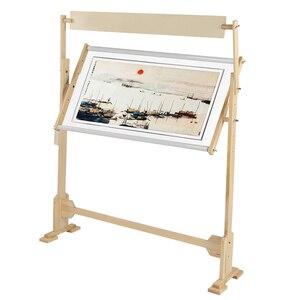 Image 1 - كبيرة الحجم التطريز حامل الصلبة إطارات خشبية طاولات خشبية قابلة للتعديل الإطار ل عبر غرزة الخياطة اليدوية أدوات
