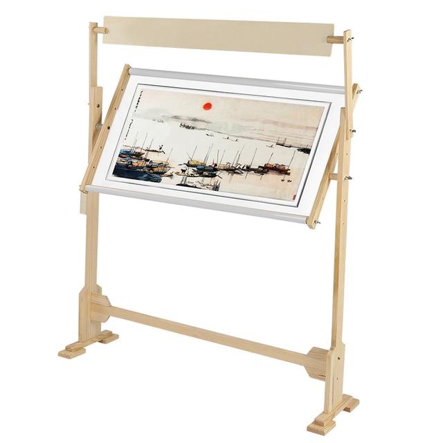 كبيرة الحجم التطريز حامل الصلبة إطارات خشبية طاولات خشبية قابلة للتعديل الإطار ل عبر غرزة الخياطة اليدوية أدوات