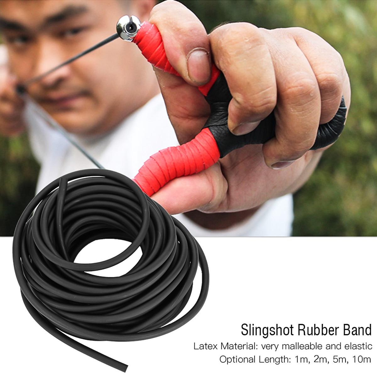 1M/2M/5M/10M Natural Latex Slingshots Elastic Rubber Tube Tubing Band For Hunting Gym Exercise Magic Acrobatics Outdoor Fishing