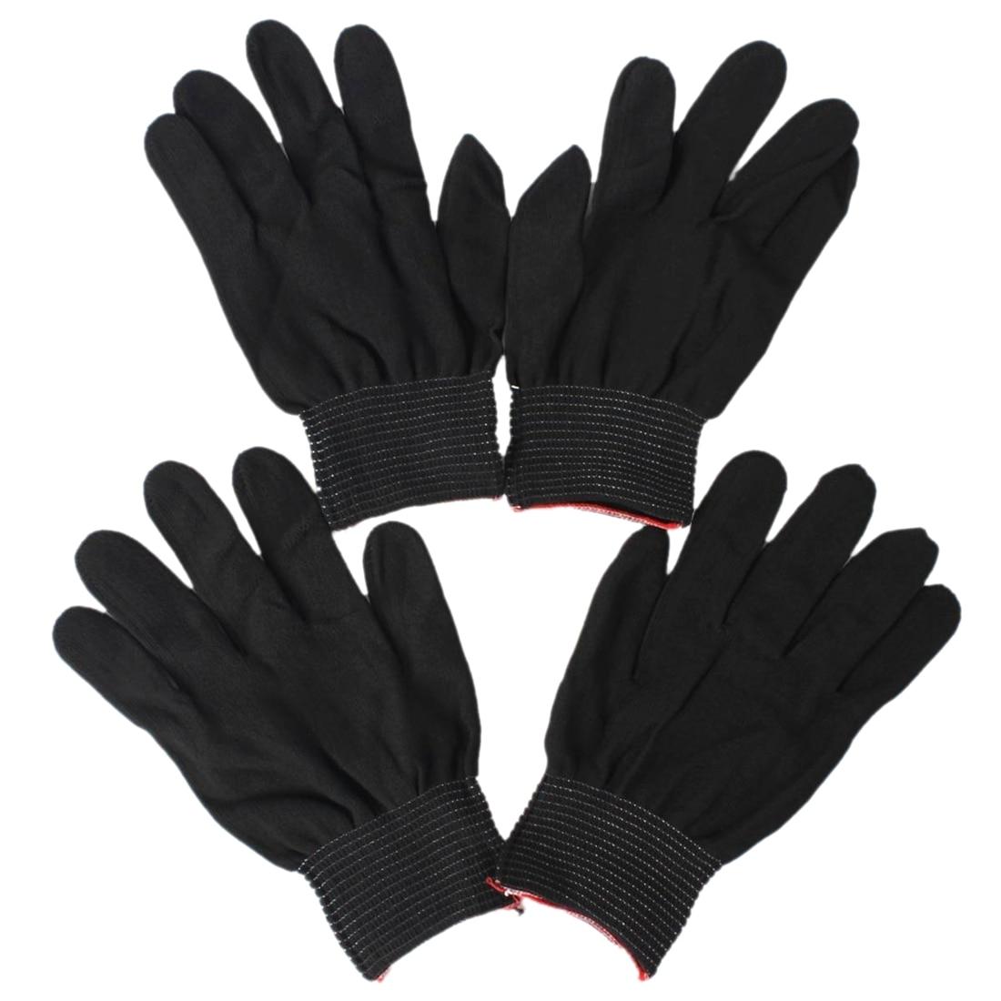 2 Pair Of Antistatic Nylon Work Gloves Nylon Gloves, Black-Hot