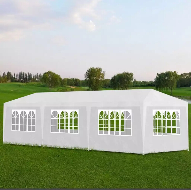 VidaXL 3x9m Party Tent 8 Wall White Garden Gazebo For Shows Weddings Parties Bbq Camping Festival Folding Enclosure Shelter Tent
