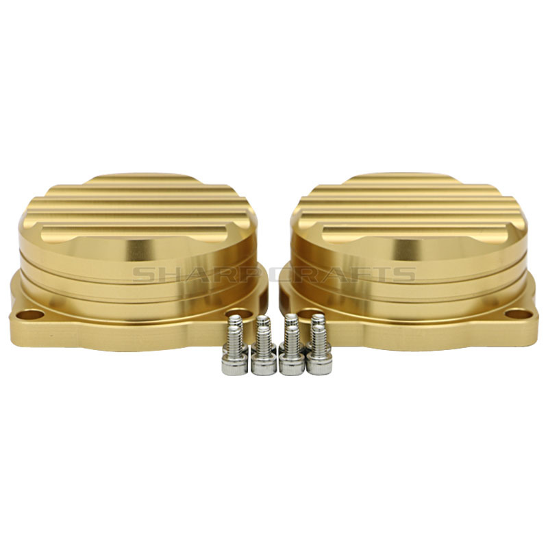 Image 2 - 2 Pack Motorcycle CNC Injection Carburetor Cover Ripple Brass Carb Tops For Triumph Bonneville Scrambler Thruxton 900 2008 2015-in Motorbike Ingition from Automobiles & Motorcycles