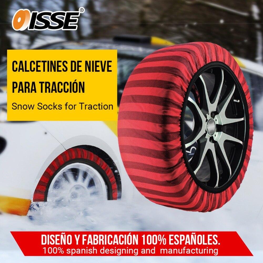 ISSE Automobiles Textile chaînes à neige pour voitures camions antidérapant tissu pneu chaîne chaussettes Traction pour neige et glace pneu universel