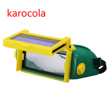 Solar Auto Verdunkeln Schattierung Schweißer Augen Maske Helm Augen Goggle/Schweißer Gläser für ARC TIG MMA MIG MAG Schweißen maschine