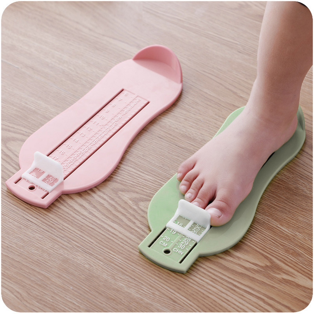 3 Colors Baby Foot Ruler Kids Foot Length Measuring device child shoes calculator for chikdren Infant