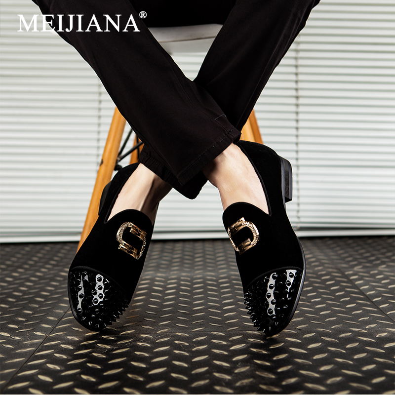 MEIJIANA 2019 Gentleman Spring and Autumn Fashion Classic Men s Shoes Velvet Men s Loafers Dress