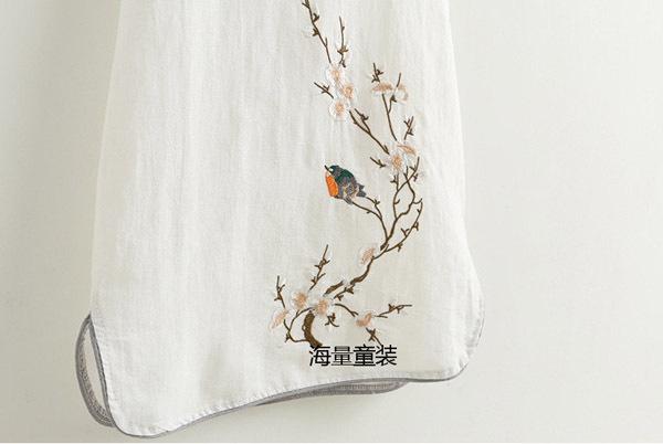 Summer children's dress girls short sleeve slim national style embroidery classical pankou cheongsam