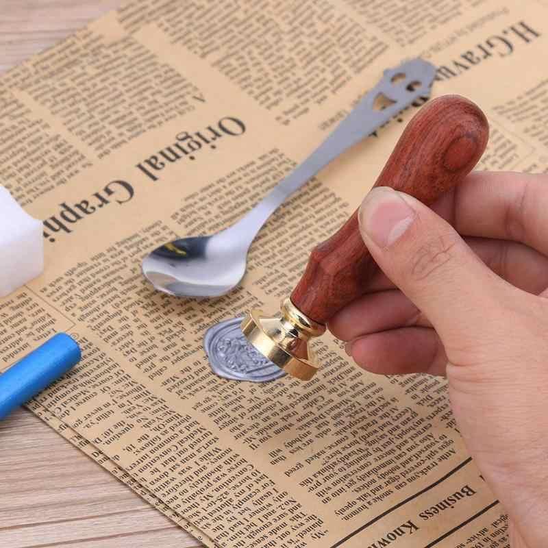נחושת ראש חותמת מכתב חותם חותמת ראש לחתונה הזמנה כרטיס קישוט DIY מעטפת איטום חותמת שעווה