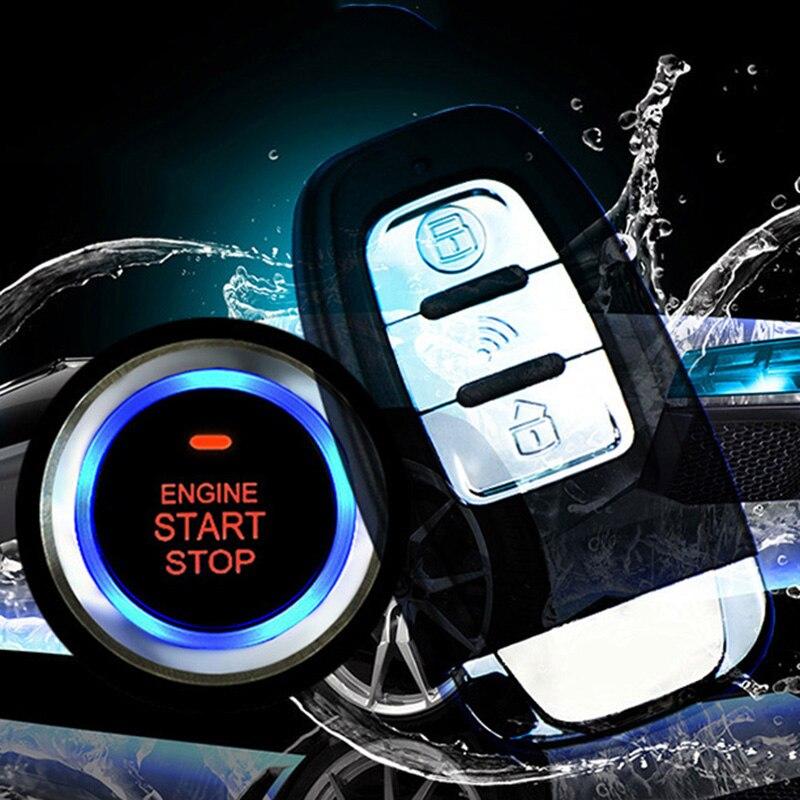 Un bouton moteur démarrage voiture Vibration système d'alarme sécurité allumage pousser à distance 433 MHz bouton de démarrage pour DC 12 V voiture Auto