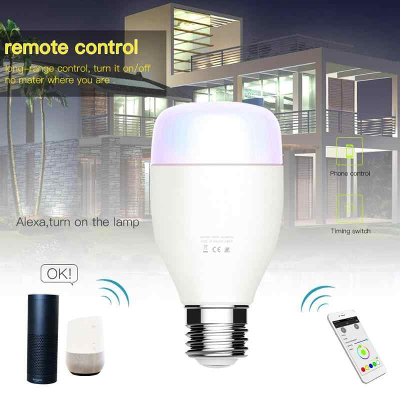 Alloyseed Smart White LED Bulb Mi Light APP WiFi Remote Group Control WIFI  RGB Dimmable Light Bulb for Amazon Alexa Google Home