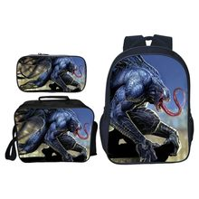 2019 New 3pcs/set Printing Hero Venom Kids Baby School Bags Spiderman Suit Bag Cartoon Children Backpacks for Boys Schoolbag(China)