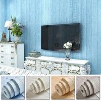 Fine pressed Retro Nostalgic Wood grain Non woven 3D Wall Sticker For Bedroom Hotel Home Wall Decoration