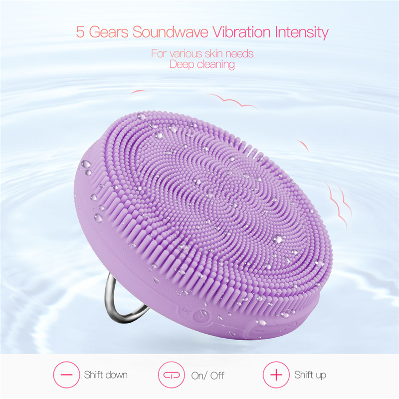 USB Rechargeble Silicone Facial Cleanser Brush Wash Face Cleaning Machine Skin Pore Cleaner Cleansing Massager Facial WashingUSB Rechargeble Silicone Facial Cleanser Brush Wash Face Cleaning Machine Skin Pore Cleaner Cleansing Massager Facial Washing