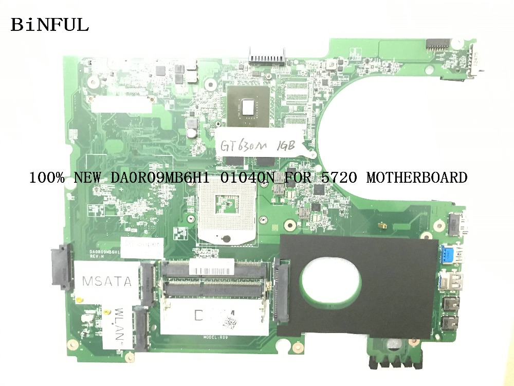 KEFU STOCK NEW <font><b>GT630M</b></font> 1GB DA0R09MB6H1 5720 LAPTOP MOTHERBOARD COMPATIBLE for Dell inspiron 7720 (072P0M) image