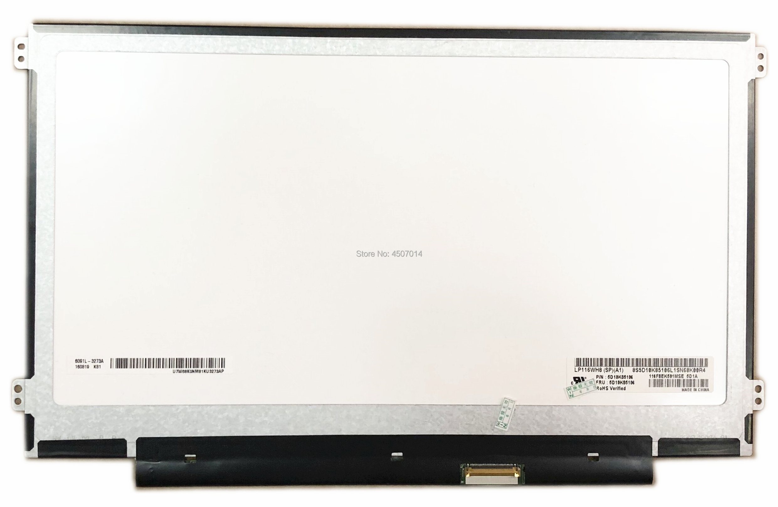 Free Shipping LP116WH8 SPA1 LP116WH8 SPA1 11 6 inch IPS Laptop Lcd Screen Panel 1366 768