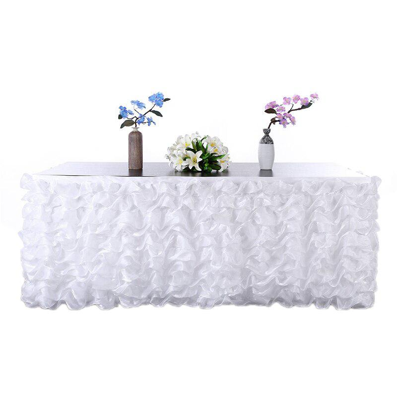 Lanlan Handgemaakte Elegant Tulle Tafel Rok Voor Party, Vergaderingen, Bruiloft En Woondecoratie Roze Lekkernijen Geliefd Bij Iedereen