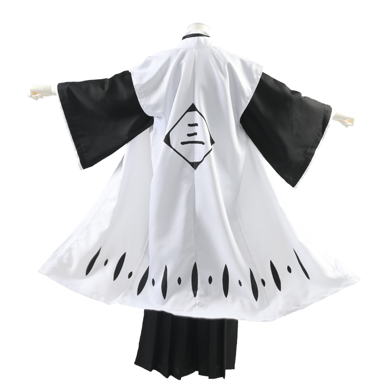 Milky Way Anime BLEACH Ichimaru Gin Cosplay ONLY Robe Cloak Coat Japanese Kimono Kendo Costume Short Sleeves Cape