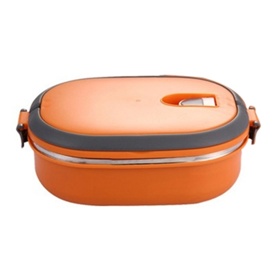High Quality Insulated Lunch Box Food Storage Container Thermo Thermal Orange image