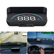 M8 Car HUD Head-up display HD Smart Consumption Data Diagnosis OBD2 Digital speedometer