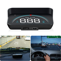 M8 Car HUD Car Head up display HD Smart Consumption Data Diagnosis OBD2 Digital speedometer