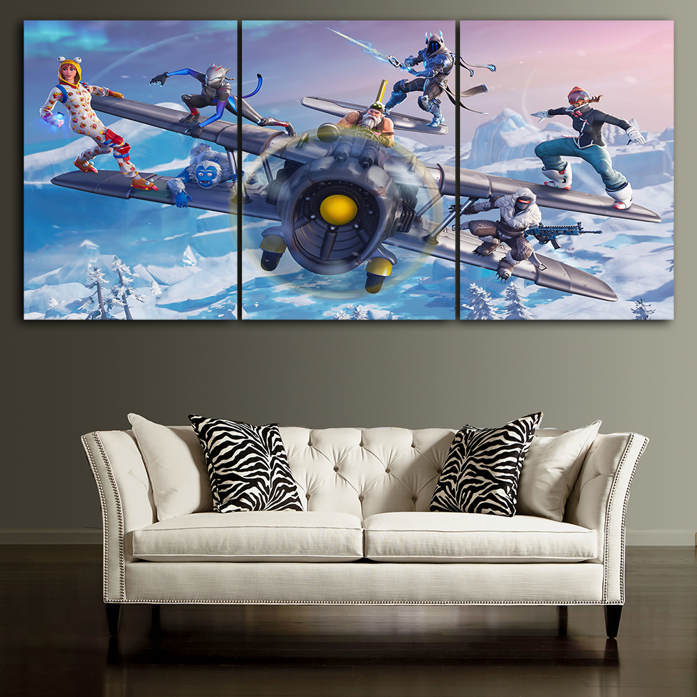 Canvas Posters Home Decor Wall Art Framework 3 Pieces Fortnite season 7 Paintings For Living Room HD Prints Modern Game Pictures
