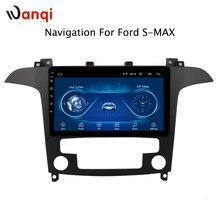 Для Ford S-Max 2007 2008 Горячая продажа 9 дюймов Android 8,1 автомобильный Dvd Gps плеер встроенный радио Видео Навигация Bt Wifi