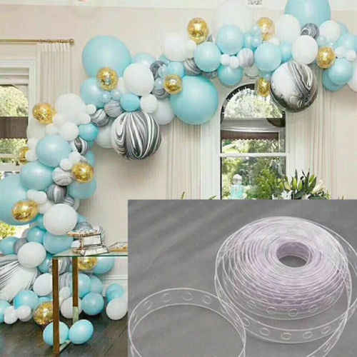 5m/Roll Balloon Chain Tape Arch Connect Strip for Wedding Birthday Party Decor
