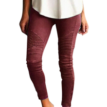 High Elastic Woman Long Pants Vintage Pleated Design Skinny Trousers Plus Size Small side zipper casual pants Femme