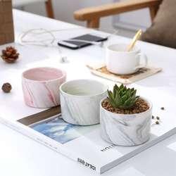 Nordic Творческий керамический цветочный горшок больше мяса цветочный горшок настольные украшения мраморные цветочные горшки оптовая