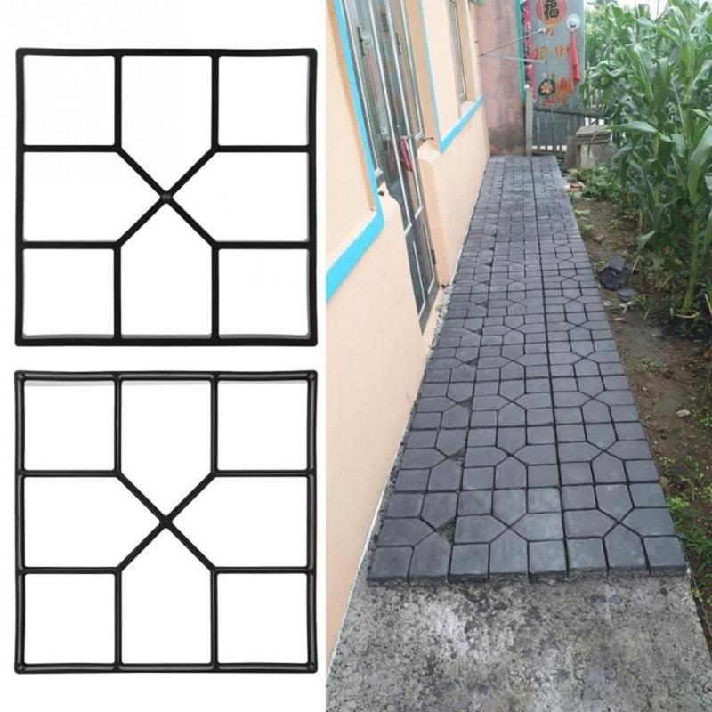 גן נתיב יצרנית עובש פלסטיק DIY באופן ידני ריצוף מלט בריק אבן כביש בטון מדרכה עובש DIY גן כלי