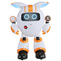 JJRC R14 Intelligent Remote Control Round Robot Support Voice Playing Music Telling Stories LED Light Walk Slide Movement Robots