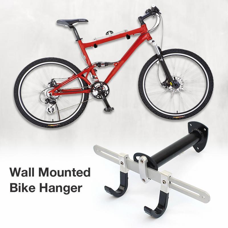 Supports de support fixés au mur de stockage de bicyclette de VTT tient le cintre résistant en acier de vélo