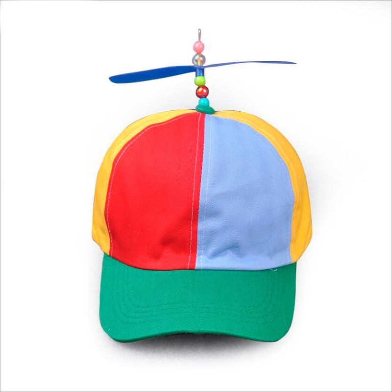 2019 Adult Helicopter Propeller Baseball Caps Colorful Patchwork Cap Hat Bamboo Dragonfly Children Boys Girls Snapback Dad Hat