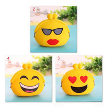 Silicone Cute Mini Expression Coin Purse Small Change Wallet Smiling Face Key Wallet Coin Storag Bag For Children Gifts 3 Styles(China)