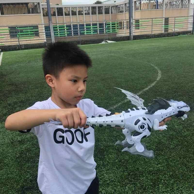 ไฟฟ้าไดโนเสาร์ชุดเด็กเดินสเปรย์ Swing หุ่นยนต์ของเล่นอิเล็กทรอนิกส์สัตว์รุ่นเสียงแสงของเล่นเด็ก