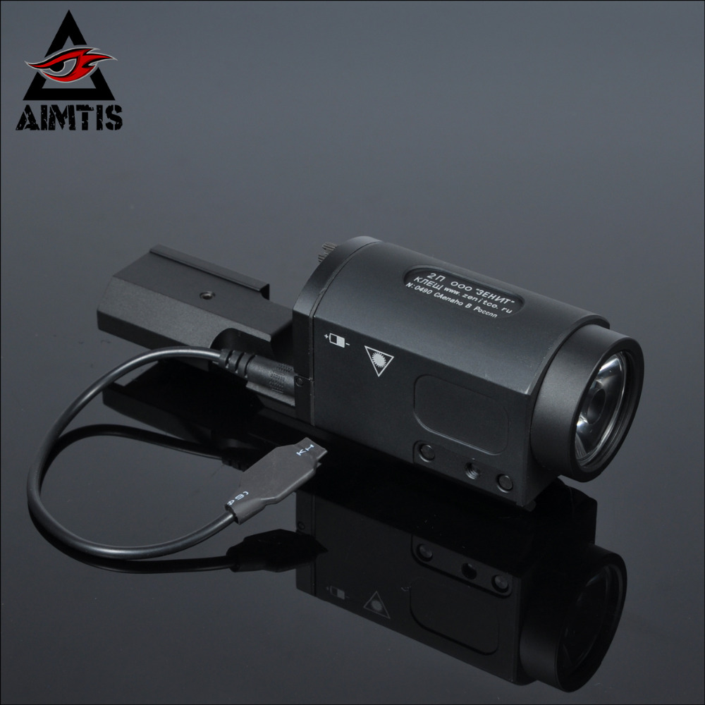 AIMTIS AK47 AK74 AK SD 47 74 Tactical Gun Light AK-SD TWPS Weapon LED Flashlight Fit 20mm Picatinny Rail Momentary Strobe Output