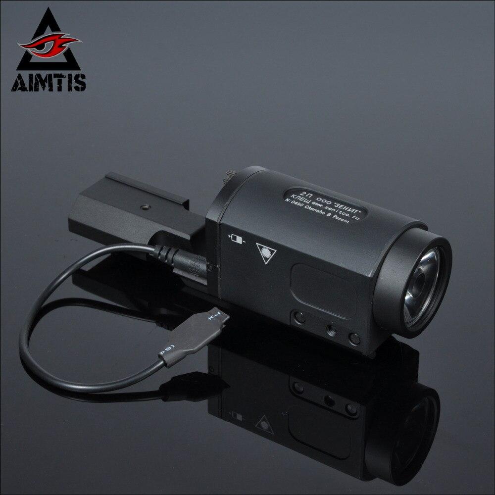 AIMTIS AK47 AK74 AK SD 47 74 Tactical Gun Light AK-SD TWPS Weapon LED Flashlight Fit 20mm Picatinny Rail Momentary Strobe Output(China)