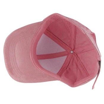 Fashion Women Girls Chic Suede Baseball Cap Solid Sport Visor Hats Adjustable 10