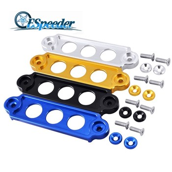 ESPEEDER Racing Anodized Billet Aluminum Alloy Battery Tie Down For Honda Civic S2000 Integ For JDM Black Blue Gold Silver image