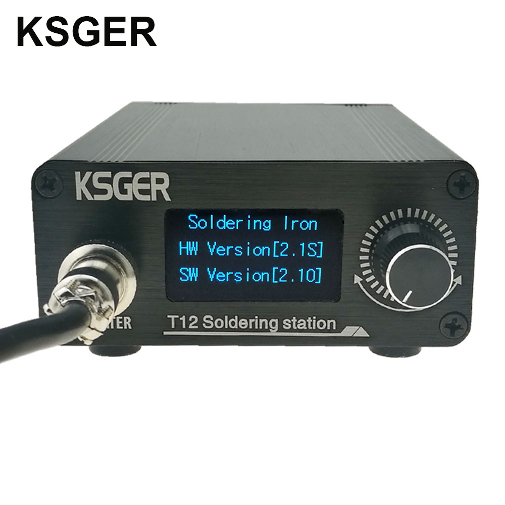 KSGER T12 Soldering Iron Station STM32 V2 1S OLED DIY FX9501 Stainless Steel Handle Electric Tools