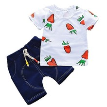 Fashion Clothing T-Shirt Carrot Shorts Baby Tracksuits Toddler Girls Infant Boys Children