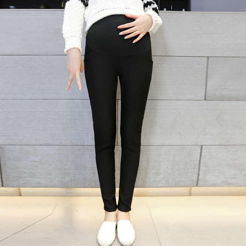 Maternity Leggings Pregnant Women Clothes 2018 Autumn Winter Pregnancy Pants Velvet Warm Trousers Pantalon De Grossesse Femme