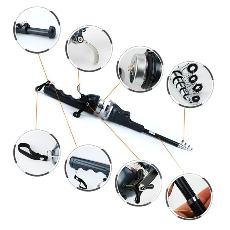 Mini Portable Folding Telescopic Fishing Rod+ Reel Combo with Fishing LineMini Portable Folding Telescopic Fishing Rod+ Reel Combo with Fishing Line