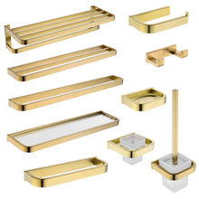 Newly Gold Bathroom Accessories Set Wall Mounted Towel Bar Holder Toilet Paper Brushed Hardware