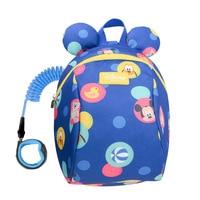 Disney Cartoon 2In1 Toddler Anti Lost Backpack 1.2M/1.8M Antilost Wrist Link Kids Safety Walking Strap Leashes Bag Schoolbag